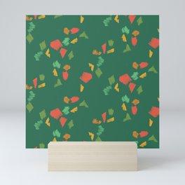 Holiday Pencil Scribbles Green Mini Art Print