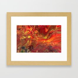 Acrylic Pour #45 Lava-Love Framed Art Print