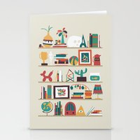 budi Stationery Cards featuring The shelf by Picomodi