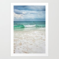Storm Surf Art Print
