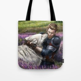 Man the White Wolf Tote Bag