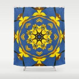 Yellow Coneflower, Ratibida, Kaleidoscope 793 #society6 #kaleidoscope Shower Curtain