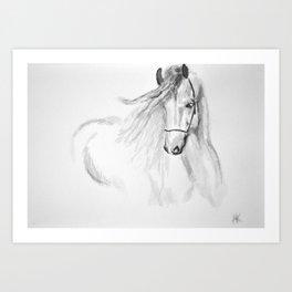 Black & White Horse Art Print
