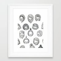 girls Framed Art Prints featuring Girls by Young Ju