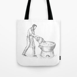 Vintage Candlemaker Foundry Drawing Tote Bag