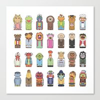 muppets Canvas Prints featuring Muppets by Big Purple Glasses