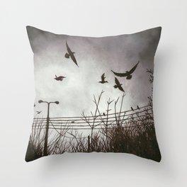 December Sky Throw Pillow