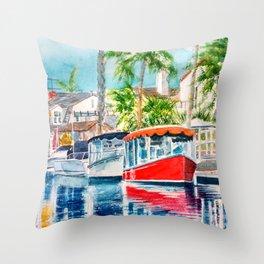 Naples Red Throw Pillow