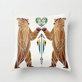 bear love Throw Pillow