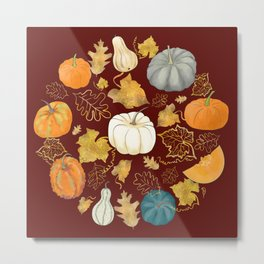 Rusty Autumn - Halloween Harvest Metal Print