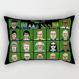 8 Bit Bad Guys Rectangular Pillow