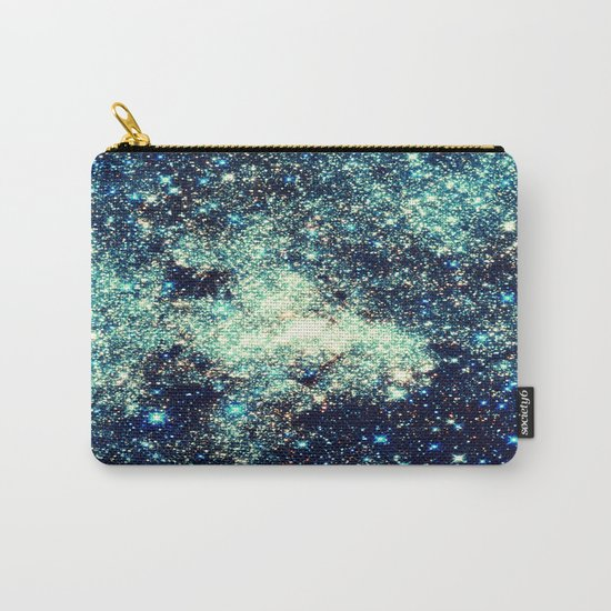 gAlAxY Stars Teal Turquoise Blue Carry-All Pouch