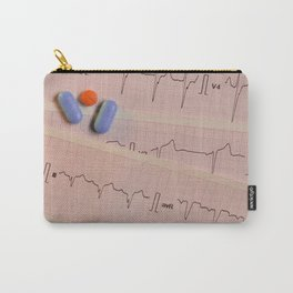 Colored pills on electrocardiogram strips Carry-All Pouch