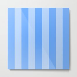 Sky Blue Stripes Metal Print
