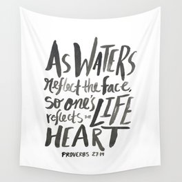 Proverbs 27:19 Wall Tapestry