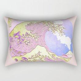 Great Wave Eruption and Sky-Hokusai Rectangular Pillow
