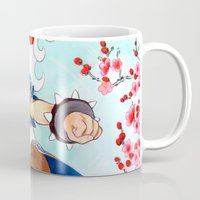 street fighter Mugs featuring Chunli Street Fighter by Aimee Steinberger