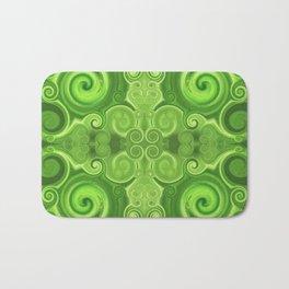 Pattern 37 - Green swirls Bath Mat