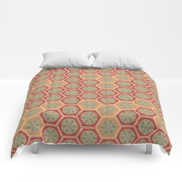 Hexagonal Dreams - Tangerine and Orange Comforters
