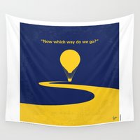 oz Wall Tapestries featuring No177 My Wizard minimal movie poster OZ by Chungkong