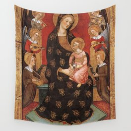 Pere Serra - Virgin of the Angels Wall Tapestry
