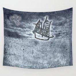 Fragata a la vista! Wall Tapestry