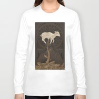 vegetable Long Sleeve T-shirts featuring Vegetable Lamb of Tartary by Jessica Roux