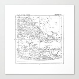 Map of the Moon (set 2/3) Canvas Print