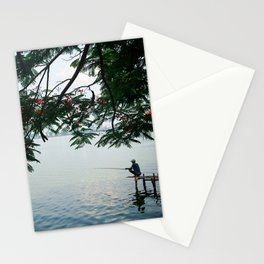 West Lake Fisherman IV Stationery Cards