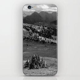 Wilderness Ahead Black-and-White iPhone Skin