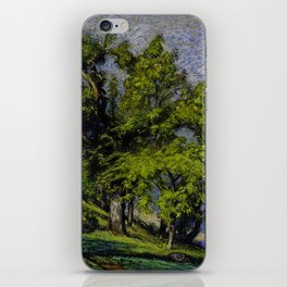 Chestnut Trees above a River iPhone Skin