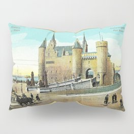 Antwerpen Antwerp Steen medieval castle Pillow Sham