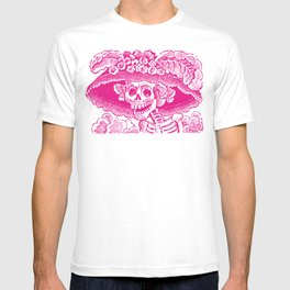 Calavera Catrina   Pink and White T-shirt