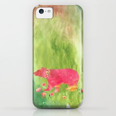 Bear  with flowers - Animal watercolor illustration on #Society6 iPhone 5c Slim Case