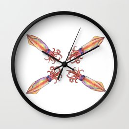 Squid Squad Wall Clock