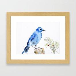 UriKuri Watercolour Bluebird Framed Art Print