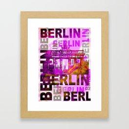 Berlin pop art typography illustration Framed Art Print