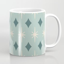 Mid Century Modern Diamond and Star Pattern 823 Coffee Mug