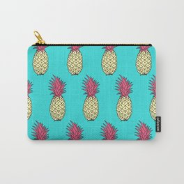 Pineapple Jive - Teal Wineberry Carry-All Pouch