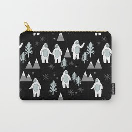 Yeti winter christmas cute forest pattern kids nursery holiday gifts Carry-All Pouch
