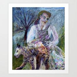 She Leopard Art Print