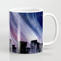 chicago Mugs featuring Chicago by Tesseract