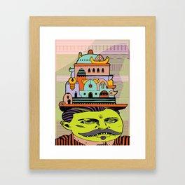 GLAD HATTER 4 Framed Art Print