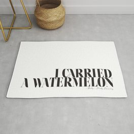 I carried a watermelon - Dirty Dancing Baby Quote Rug
