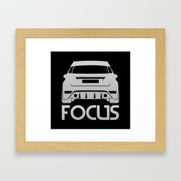 Ford Focus RS - silver - Framed Art Print