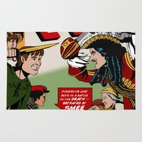 hook Area & Throw Rugs featuring Hook Comic by mikaelak