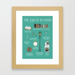 The Love of Reading Framed Art Print