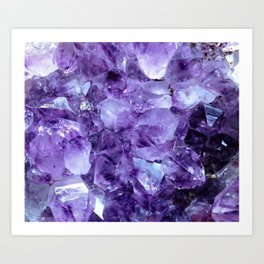 Amethyst Crystals Art Print