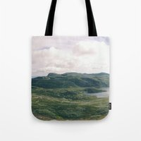 norway Tote Bags featuring Norway Panorama by see BOLD