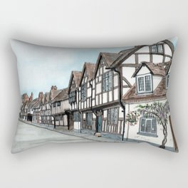Mill Street South, Warwick U.K. Rectangular Pillow